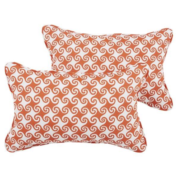 Euphemia Indoor/Outdoor Lumbar Pillow (Set of 2) by Bayou Breeze