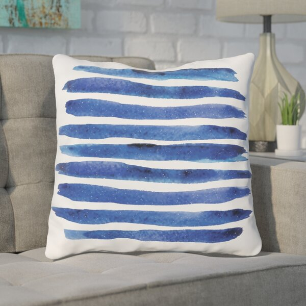 Gangemi Stripe Throw Pillow by Wrought Studio