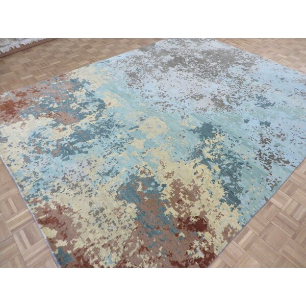 One-of-a-Kind Altman Modern Abstract Oriental Hand-Knotted 9'1
