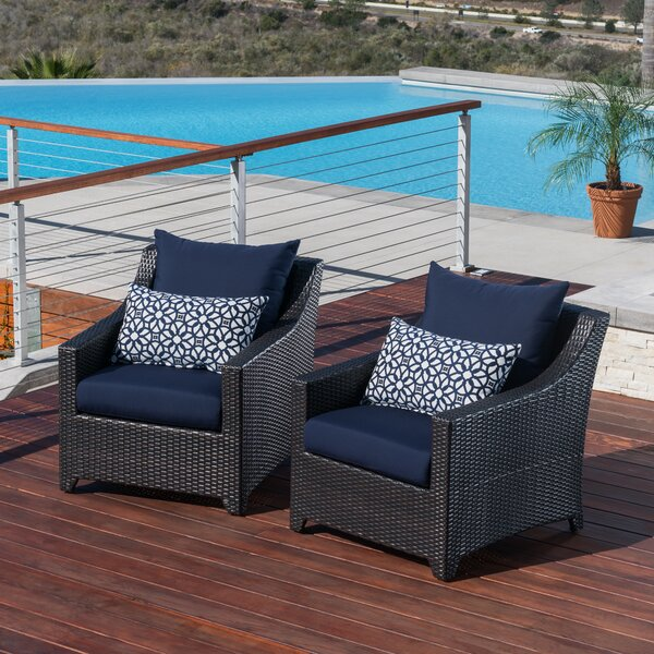 Northridge Patio Chair with Cushions (Set of 2) by Three Posts