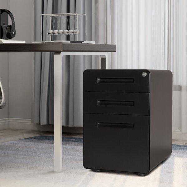 Azhar 3-Drawer Mobile Vertical Filing Cabinet