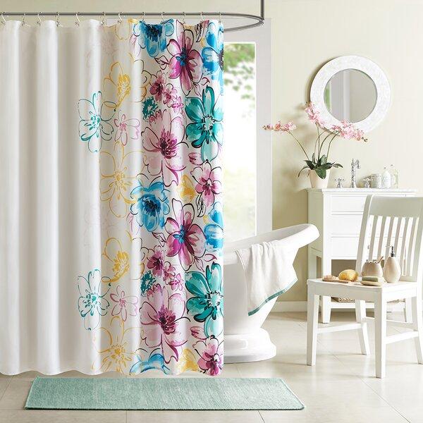 Hernadez Microfiber Shower Curtain by Viv + Rae