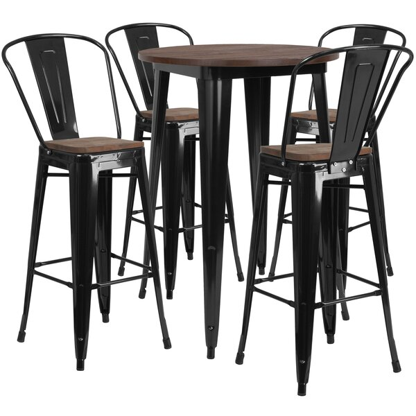 Procter 5 Piece Pub Table Set by Williston Forge