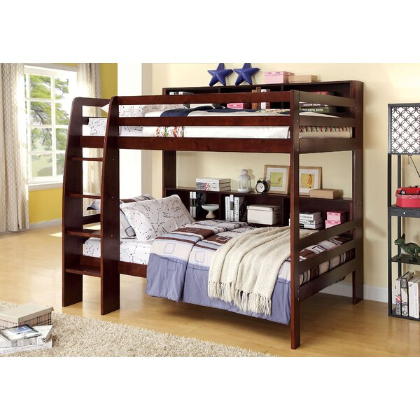 Twin Over Twin Bunk Bed with Shelves by Hokku Designs