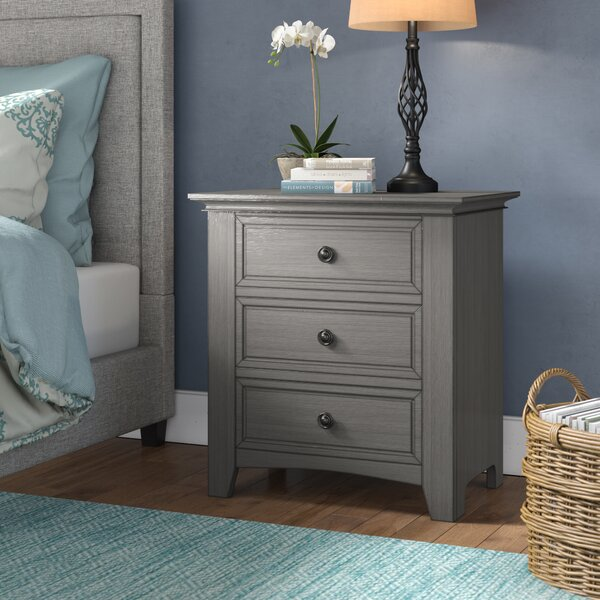 Woodside 3 Drawer Nightstand by Three Posts