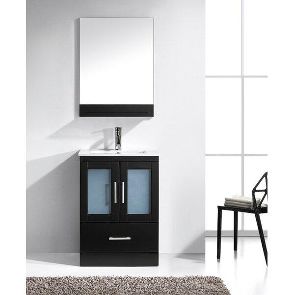 @ Duke 24 Single Bathroom Vanity Set with Mirror by Wade Logan| #$0.00!