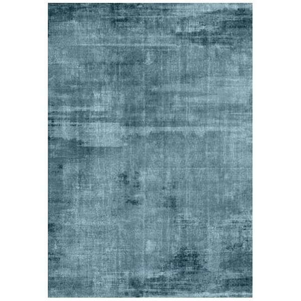 Richter Watercolor Blue Indoor/Outdoor Area Rug by World Menagerie