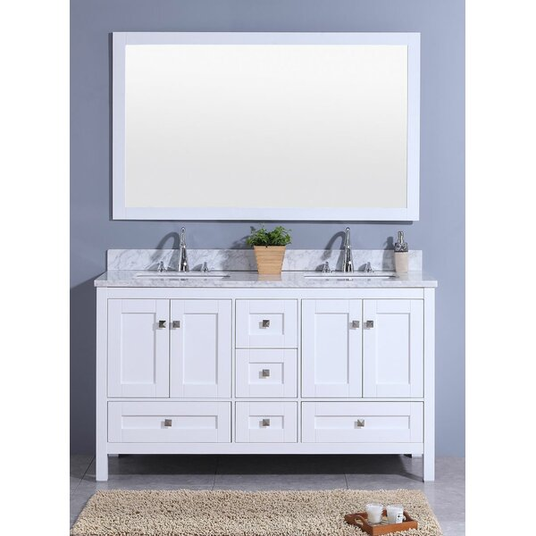 Bluffview 61 Double Bathroom Vanity Set with Mirror by Winston Porter