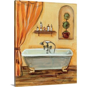 'Tuscan Bath I' by Silvia Vassileva Painting Print on Canvas by Great Big Canvas