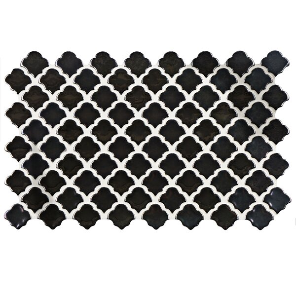 Abelardo 5.5 x 9 Porcelain Mosaic Tile in Black by EliteTile