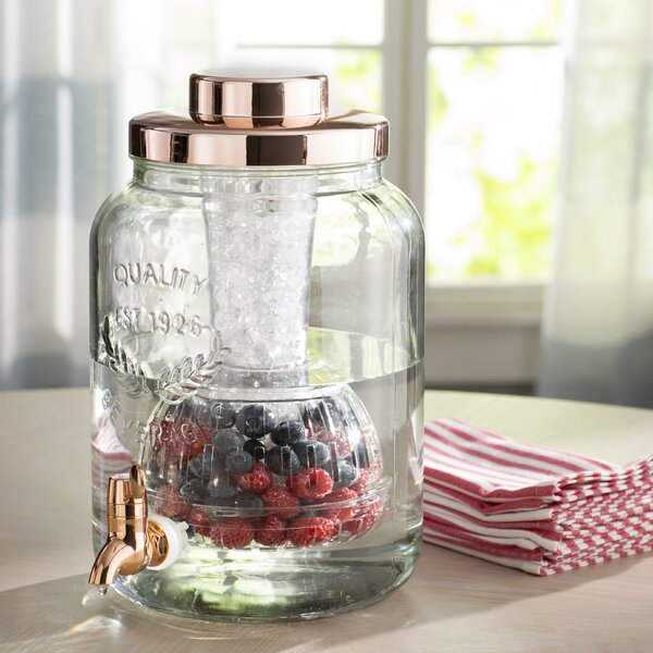 Hahira Copper Chill and Flavor 2 Gallon Beverage Dispenser by Laurel Foundry Modern Farmhouse