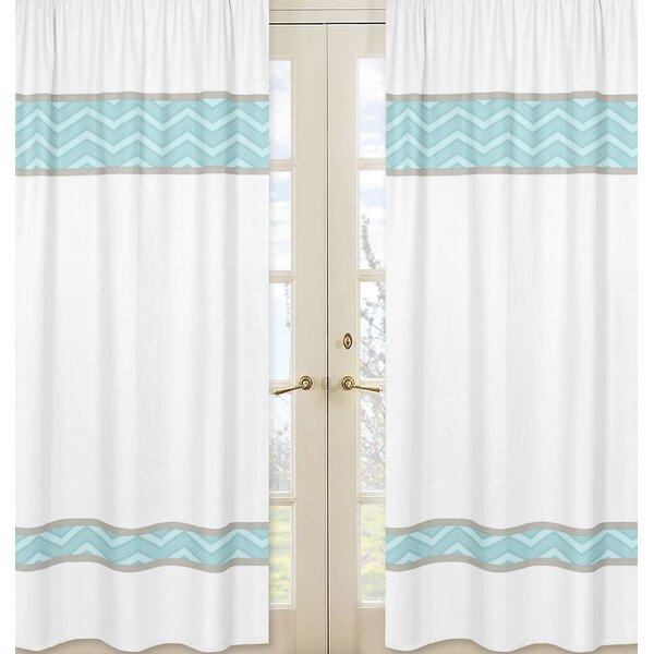 Balloon Buddies Chevron Semi-Sheer Rod pocket Curtain Panels (Set of 2) by Sweet Jojo Designs