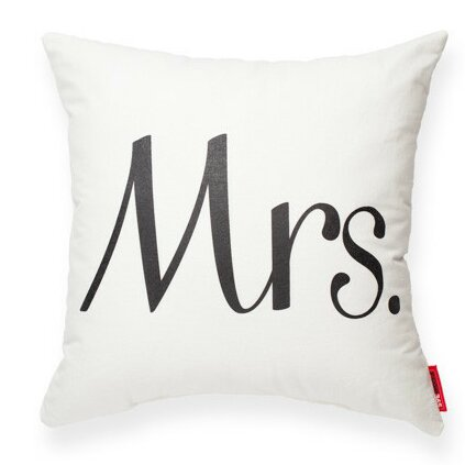 Expressive Mrs Decorative Cotton Throw Pillow by Posh365