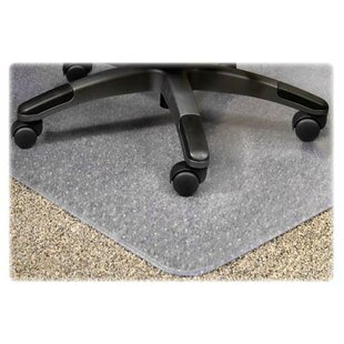 PlushMat Medium Plush Pile Carpet Beveled Edge Chair Mat by Lorell