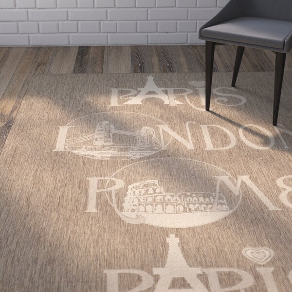 Lefler Brown/Beige Indoor/Outdoor Area Rug by Wrought Studio