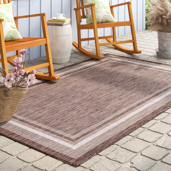 Lodd Brown Indoor/Outdoor Area Rug by August Grove