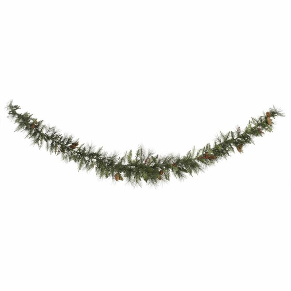 Vallejo Mixed Pine and Berry Garland by The Holiday Aisle