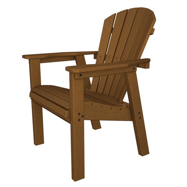 Seashell Adirondack Casual Patio Dining Chair by POLYWOOD®