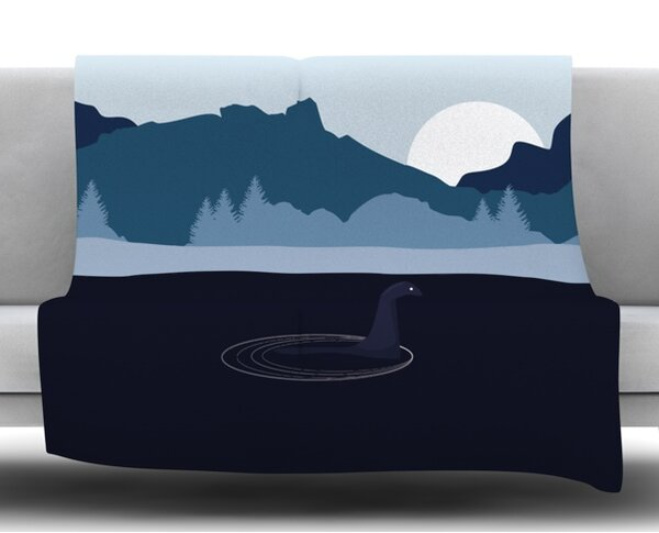 Swimming with Nessie Fleece Blanket by East Urban Home