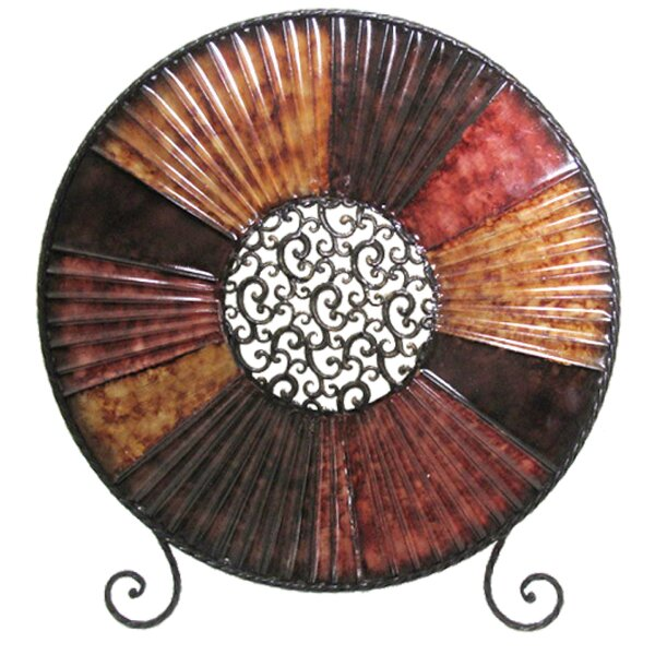 Abstract Round Decorative Plate by World Menagerie