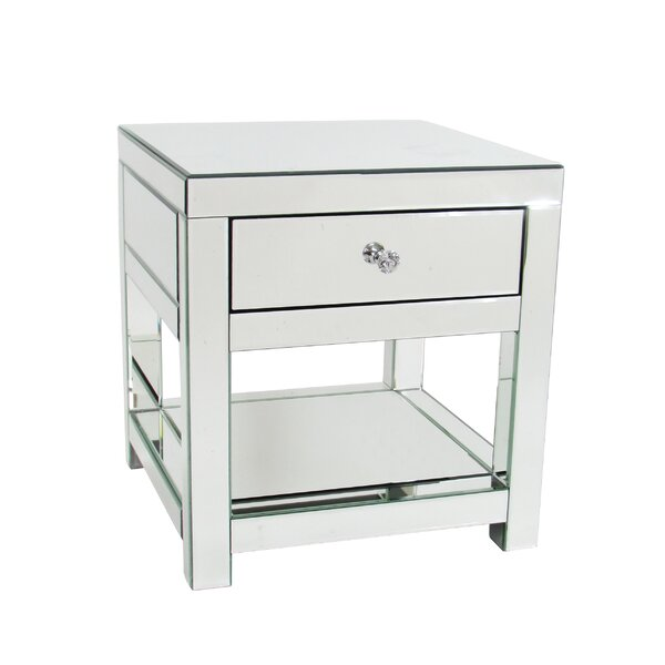 Nicolle End Table With Storage by Everly Quinn