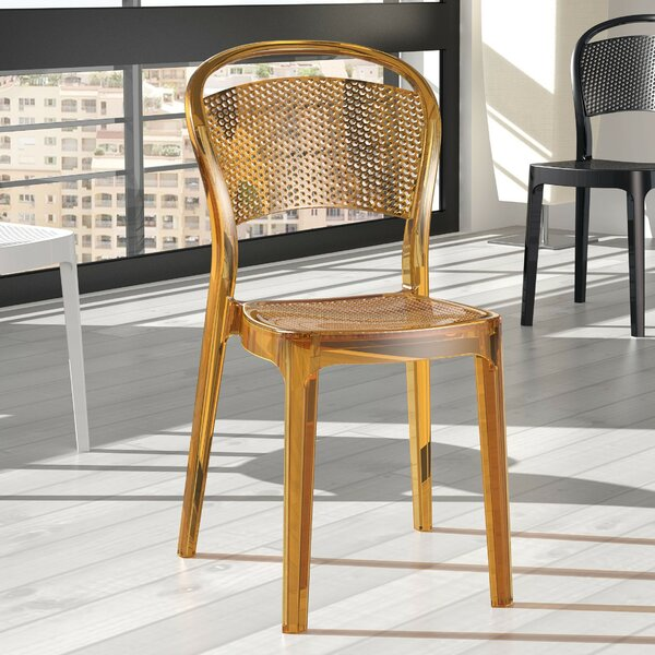 Cancel Bee Stacking Dining Chair (Set of 2) by Orren Ellis