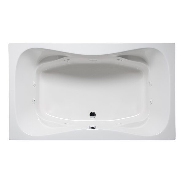 Rampart II 72 x 42 Drop in Whirlpool Bathtub by Americh