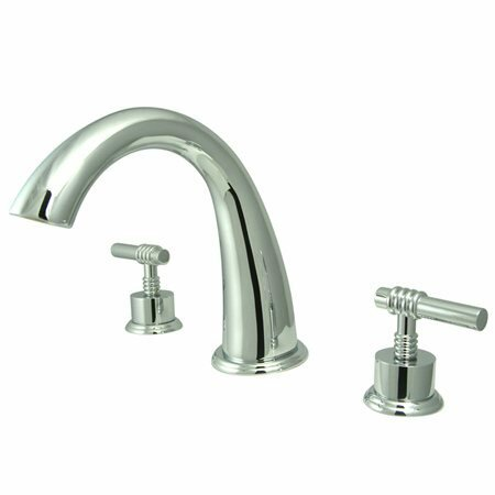 Double Handle Deck Mounted Roman Tub Faucet By Elements Of Design
