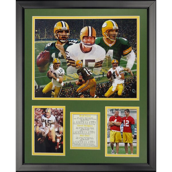 NFL Green Bay Packers - Packer Quarterbacks Framed Memorabilia by Legends Never Die