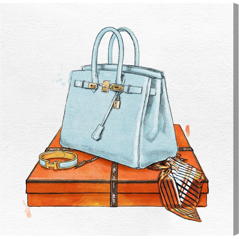 My Bag Collection Watercolor Painting Print On Canvas