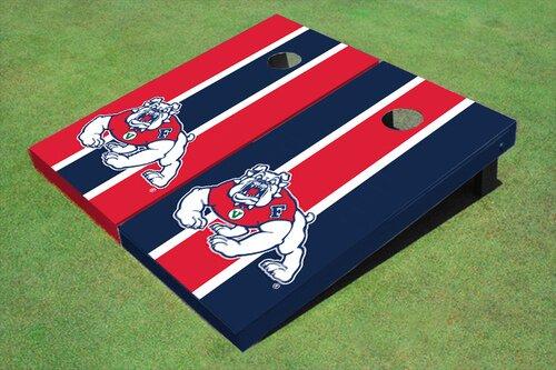 NCAA 10 Piece Long Stripe Cornhole Board Set by All American Tailgate