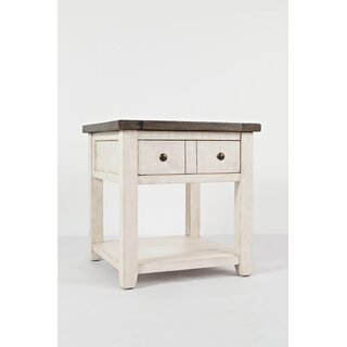 Westhoff End Table with Storage by Gracie Oaks SKU:CA437571 Check Price