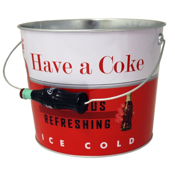 Coke Galvanized Beverage Bucket by Tin Box Company
