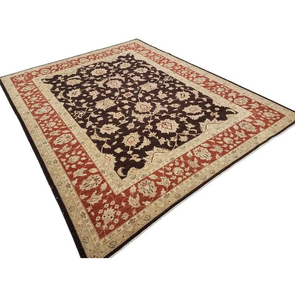 Xenos Hand-Knotted Wool Brown/Rust Area Rug by Astoria Grand