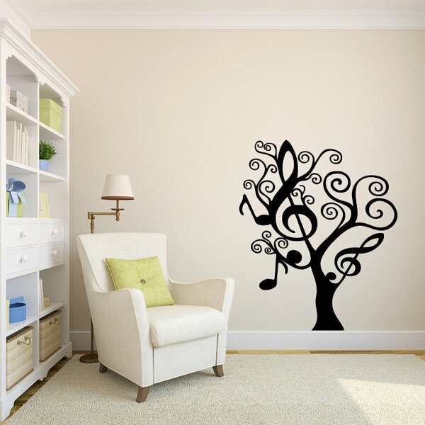 Hollis Music Notes Tree Vinyl Graphic Wall Decal by Zoomie Kids