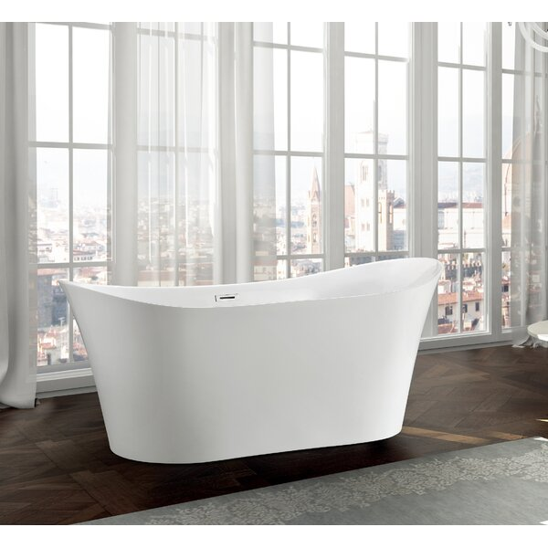 Bergamo 67 x 31 Freestanding Soaking Bathtub by Bellaterra Home