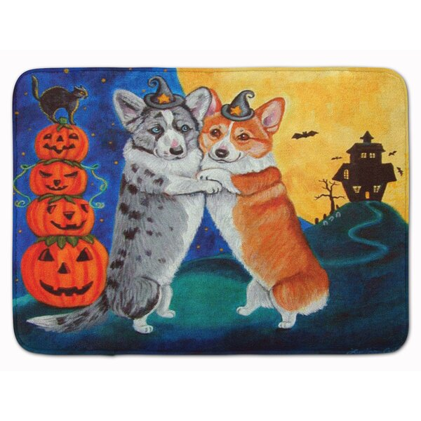 Corgi Halloween Scare Memory Foam Bath Rug by The Holiday Aisle