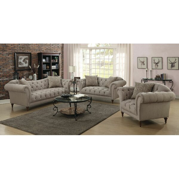 Haygood 3 Piece Living Room Set by Alcott Hill
