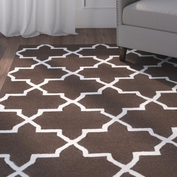 Blaisdell Brown Geometric Keely Area Rug by Charlton Home