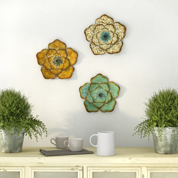 3 Piece Flower Wall Décor Set by Ophelia & Co.