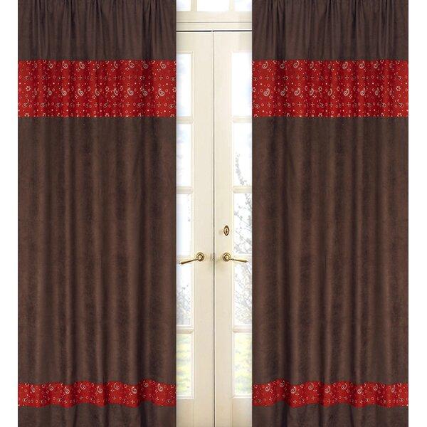 Wild West Cowboy Paisley Semi-Sheer Rod pocket Curtain Panels (Set of 2) by Sweet Jojo Designs