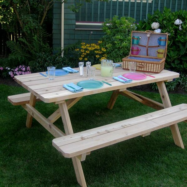 Connerton Picnic Table by Rosecliff Heights