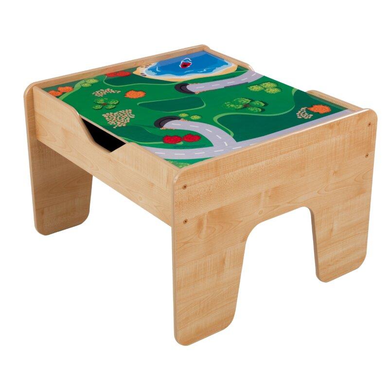 Kidkraft Activity 2 In 1 Kids Square Lego Train Table