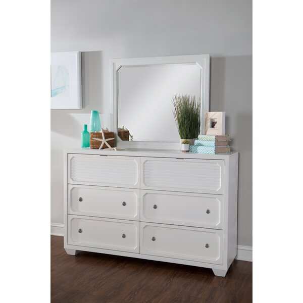 Toledo 6 Drawer Double Dresser with Mirror by Rosecliff Heights