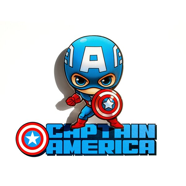 3D Captain America Mini Deco 2-Light Night Light by 3D Light FX