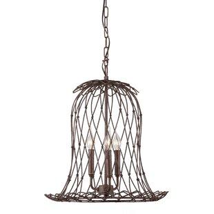 Bergenfield 3-Light Lantern Pendant by Gracie Oaks
