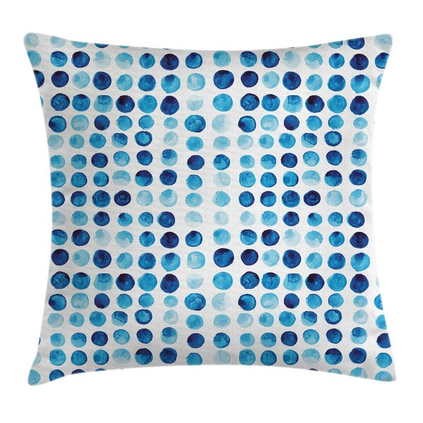 Hand Drawn Circles Cells Square Pillow Cover by East Urban Home