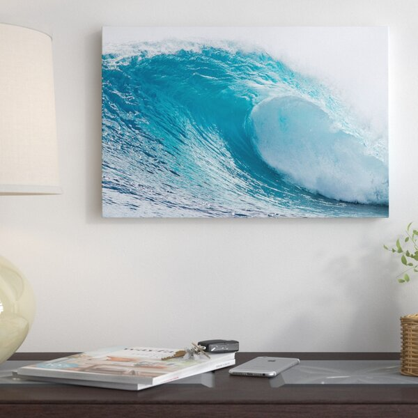 Plunging Waves I, Sout Pacific Ocean, Tahiti, French Polynesia Photographic Print on Wrapped Canvas by East Urban Home