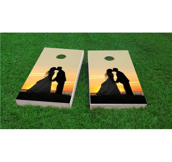 Waterfront Wedding Cornhole Game Set by Custom Cornhole Boards