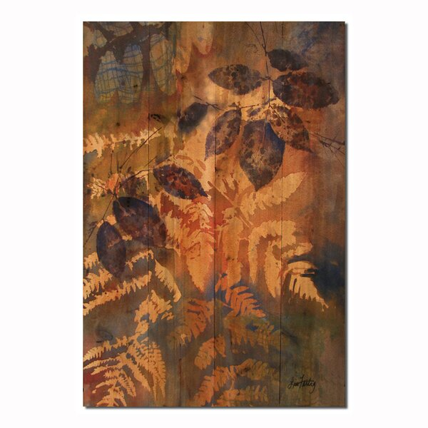 Leaves Painting Print Plaque by WGI-GALLERY